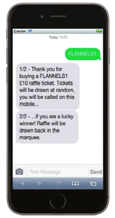 text raffle phone image